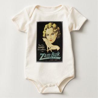 Vintage Advertisement Hand Cream Woman Blond Hair Baby Bodysuit