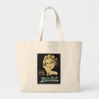 Vintage Advertisement Hand Cream Woman Blond Hair Large Tote Bag