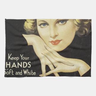 Vintage Advertisement Hand Cream Woman Blond Hair Towel