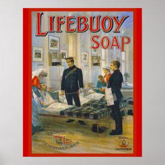 Vintage Advertisement, Lifebuoy Soap Poster