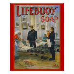 Vintage Advertisement, Lifebuoy Soap Posters
