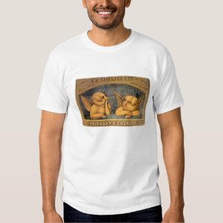 Vintage advertisement of cherub pigs tshirts