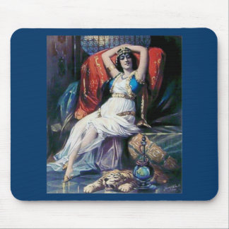 Vintage advertisement poster theater woman mouse pads