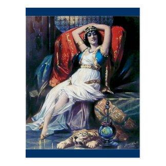 Vintage advertisement poster theater woman postcard