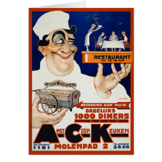 Vintage Advertising Ad:  Restaurant & Food Caterin Card