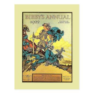 Vintage advertising, Bibby's Annual 1922 Postcard
