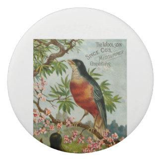Vintage Advertising Bird Image from woolson spice Eraser