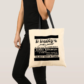 Vintage Advertising Blues Music Carry All Tote Bag