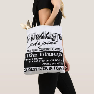 Vintage Advertising Blues Music Tote