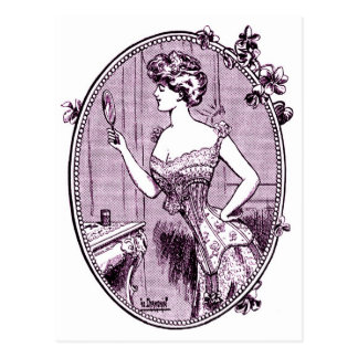 Vintage Advertising, Corsets, circa 1900 Postcard