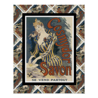 Vintage advertising, French soap Poster