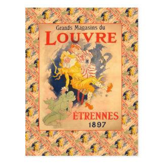 Vintage advertising, Grands Magazins de Louvre Postcard