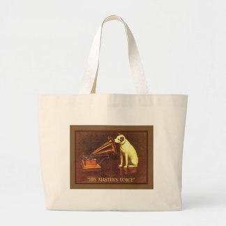 VIntage advertising, His master's Voice Canvas Bags