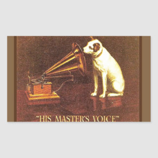VIntage advertising, His master's Voice Stickers