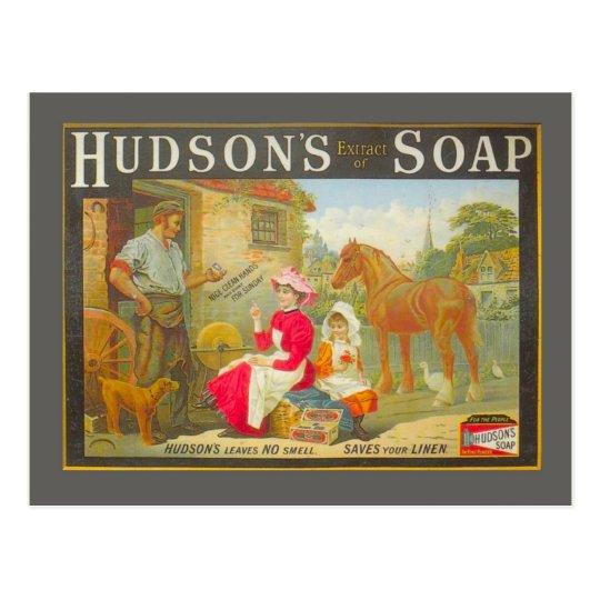 Vintage advertising, Hudson's soap Postcard