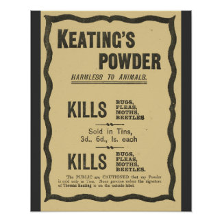 Vintage Advertising, Keatings powder Poster