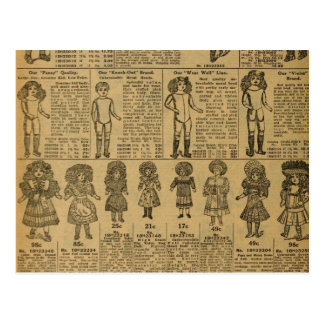Vintage Advertising Newspaper Toys Dolls Postcard
