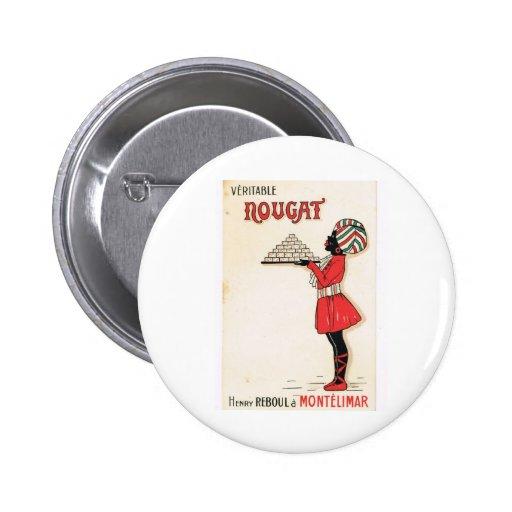 Vintage advertising, Nougat Montelimar Pin