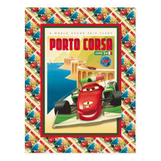 Vintage advertising, Porto Corsa, car race Postcard