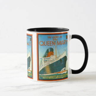 Vintage advertising, RMS Queen Mary Mug