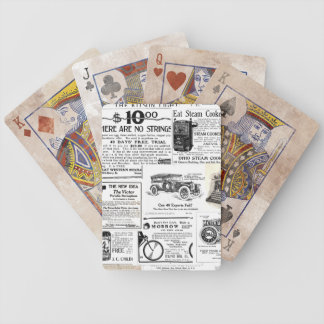 Vintage Advertisments Bicycle Playing Cards