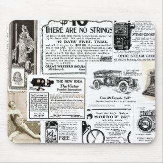 Vintage Advertisments Mouse Pad