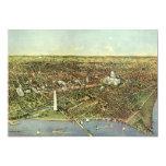 Vintage Aerial Antique City Map of Washington DC