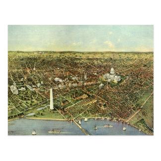 Vintage Aerial Antique City Map of Washington DC Post Cards