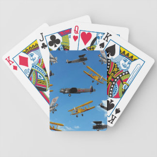 vintage aeroplane design bicycle playing cards