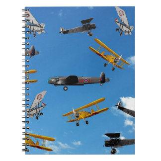 vintage aeroplane design notebook