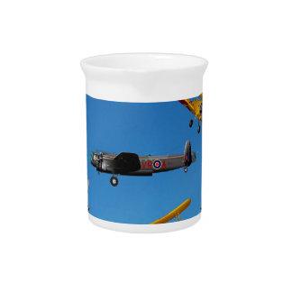 vintage aeroplane design pitcher