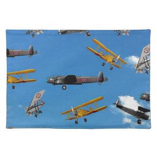 vintage aeroplane design placemat