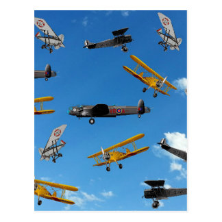 vintage aeroplane design postcard