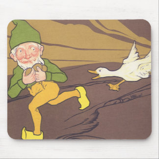 Vintage Aesop Fable Goose that Laid the Golden Egg Mouse Pad
