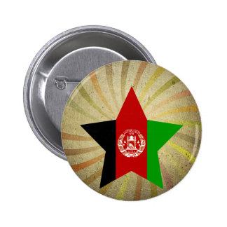 Vintage Afghan Flag Swirl 2 Inch Round Button