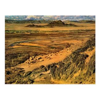 Vintage Afghanistan Countryside near Arghendad Postcard