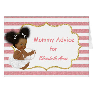 Vintage African American Baby Shower Mommy Advice Note Card