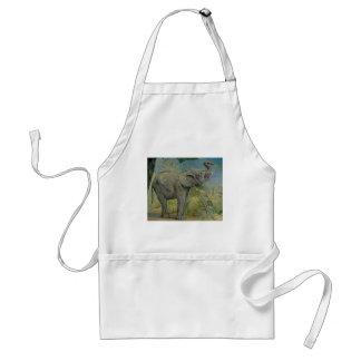 Vintage African Elephant in the Jungle, EJ Detmold Adult Apron