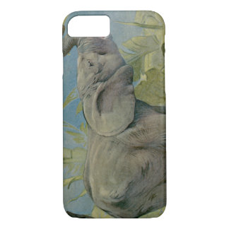 Vintage African Elephant in the Jungle, EJ Detmold iPhone 7 Case