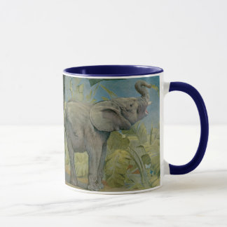 Vintage African Elephant in the Jungle, EJ Detmold Mug