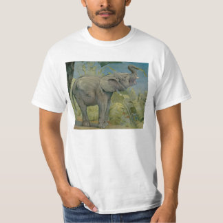 Vintage African Elephant in the Jungle, EJ Detmold Tshirts