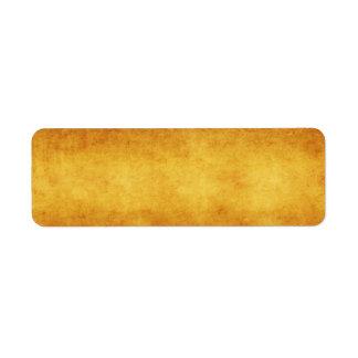 Vintage Aged Amber Burnt Umber Parchment Paper Return Address Label