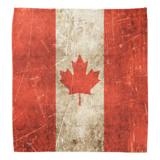 Vintage Aged and Scratched Flag of Canada Kerchiefs