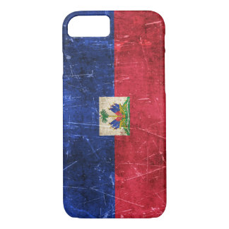 Vintage Aged and Scratched Flag of Haiti iPhone 7 Case