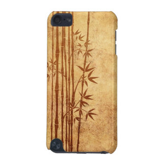Vintage Aged and Worn Bamboo Sticks with Leaves iPod Touch (5th Generation) Cover