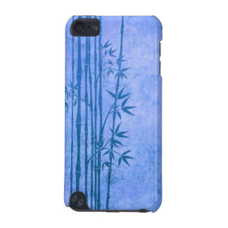 Vintage Aged Blue Bamboo Sticks with Leaves iPod Touch (5th Generation) Cover