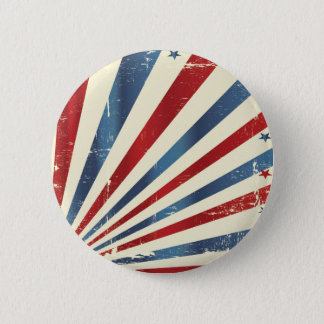 Vintage/Aged Flag Stars and Stripes 2 Inch Round Button