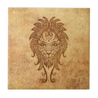 Vintage Aged Leo Zodiac Tile
