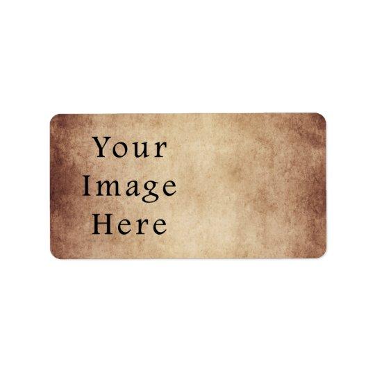 Vintage Aged Light Dark Brown Parchment Paper Label