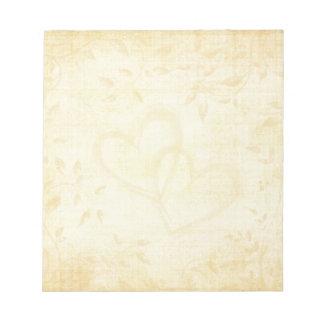 Vintage Aged Paper Wedding Notepad